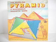 Vintage 1960 Game Puzzling Pyramid