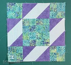 Sunny Lanes quilt block from the front side