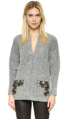 BY MALENE BIRGER Francoise Embellished Pullover. #bymalenebirger #cloth #dress #top #shirt #sweater #skirt #beachwear #activewear