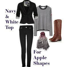 jeans and shirt style for apple shape women - Google Search