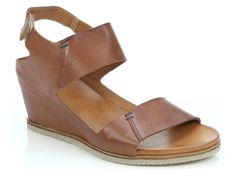 EOS Footwear 'Emar' in Brandy - Wedge heeled sandal with double strap and thin velcro ankle fastening. Also available in Mist. Black and Taupe options come in snake skin effect upper. Winter Shoes For Women, Italian Leather, Wedge Heels, Snake Skin, Eos, Taupe, Footwear, Wedges, Pairs