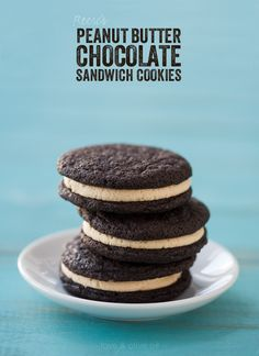 Reese's Chocolate & Peanut Butter Sandwich Cookies from @Lindsay Landis