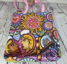 TRUE RELIGION Love Garden Canvas Tote Bag Design by Daniel Cascardo Valentine #TrueReligion #TotesShoppers