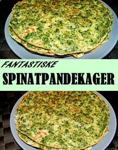 Rigtig gode spinatpandekager, som kan fyldes med lige det, du har lyst til. Raw Food Recipes, Veggie Recipes, Diet Recipes, Vegetarian Recipes, Healthy Recipes, Raw Food Diet Plan, Happy Foods, Recipes From Heaven, Everyday Food