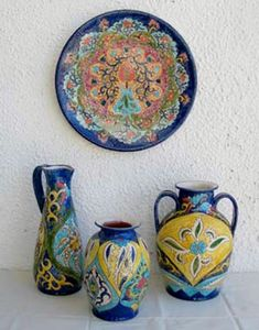 ceramics karagouni.skala fourkas halkidiki greece Halkidiki Greece, Sugar Bowl, Bowl Set, Ceramics, Ceramica, Pottery, Ceramic Art, Porcelain, Ceramic Pottery