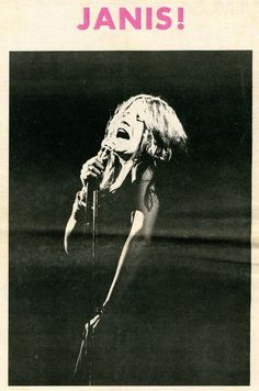 Janis Joplin at the Fillmore East, 1969.