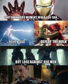 Haha! Yes because 1. He was driven by revenge...his head was not in the game 2. Those old men are extremely professional at martial combat 3. They are both actually superpowered, but since tony stark only has a suit, once you shut down the suit you've basically won due to the fact he has no martial arts training. Also, note, Steve was never trying to kill him. Tony was trying to kill Bucky.