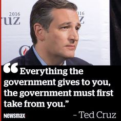 Government control is oppression and slavery; Ted Cruz understands freedom and the US Constitution; TED CRUZ FOR PRESIDENT !!!