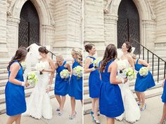Amazing wedding, blue blue blue.