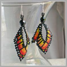 Monarch Leaf Earrings  Monarch Butterfly Wing by FrancescasFancy, $25.00