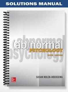 Solutions manual for spreadsheet modeling and decision analysis solutions manual abnormal psychology 6th edition nolen hoeksema at httpsfratstock fandeluxe Gallery