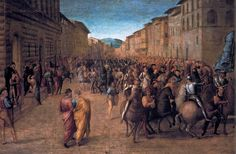 Francesco Granacci - Entry of Charles VIII into Florence. 1518
