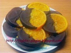 Τα φαγητά της γιαγιάς - Καραμελωμένες φέτες πορτοκαλιού με σοκολάτα
