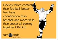 Why hockey is better than your sport. Flyers Hockey, Hockey Memes, Hockey Quotes, Blackhawks Hockey, Hockey Players, Funny Hockey, Chicago Blackhawks, Sports Memes, Caps Hockey