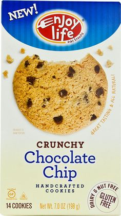 Enjoy Life Crunchy Handcarfted Cookies Gluten Free Chocolate Chip