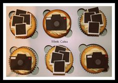 Made for a 70th birthday for a gentleman with a keen passion for photography. The cameras were inspired by justcallmemarthas blog and the polaroids were just something I decided to do to break up the camera toppers.
