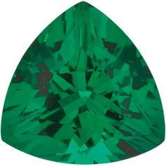 4mm Trillion Faceted Chatham Created Emerald