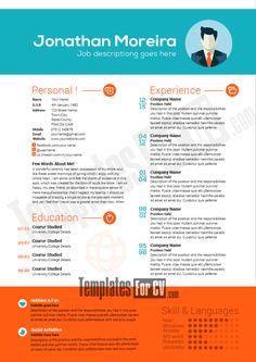 14 Plantillas Editables Originales Para CV Profesionales Gratis |  Curriculum | Pinterest