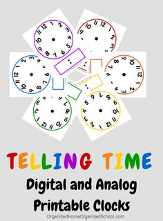 FREE Clock Printables and Telling Time Lesson Tips