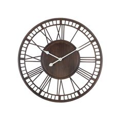 Grande Horloge Murale en Fer Forgé Chiffres Romains - J-line