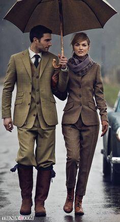 Мужской и женский твидовый костюм. Почти близнецы