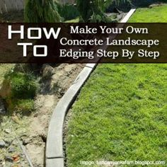 How To Make Your Own Concrete Landscape Edging Step By Step - Plant Care Today