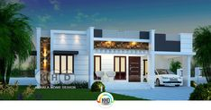 designs exterior indian 1450 square feet 3 bedroom one floor Kerala home House Front Wall Design, House Outer Design, Single Floor House Design, House Roof Design, Modern Small House Design, Modern Exterior House Designs, Village House Design, Duplex House Design, Front Design