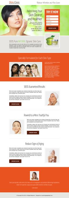 youthful-glowing-skin-care-leads-lp-019 | Skin Care landing page design preview.