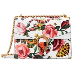 Gucci Garden Exclusive Dionysus Shoulder Bag ($2,700) ❤ liked on Polyvore featuring bags, handbags, shoulder bags, gucci, accessories, purses, hand bags, shoulder hand bags, gucci purses and flap handbags