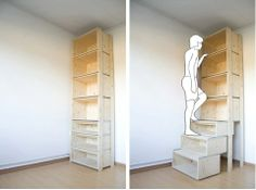 Pull-out Shelves - very clever and practical