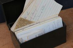 Vintage Recipe Box / 1950s Green Metal Recipe by JMFindsandDesigns