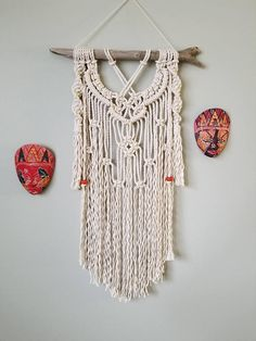 Check out this item in my Etsy shop https://www.etsy.com/ca/listing/577337315/macrame-wall-hanging-with-beads-accent
