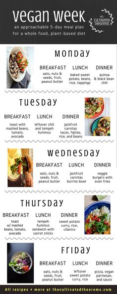 5-day easy vegan meal plan for beginners Vegan Recipes For Beginners, Vegan Recipes Easy, Easy Juice Recipes, Raw Food Recipes, Meal Prep For Beginners, Vegan Dishes, Vegan Foods, Plant Based Meal Planning, Vegetarian Meal Planning