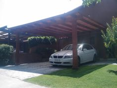 ESTACIONAMIENTO LOS ALMENDROS Outdoor Kitchen Design, Blessed Mother, Bbq, Shed, Cases, Outdoor Structures, Gardens, Drive Way, Pallet Wall Shelves
