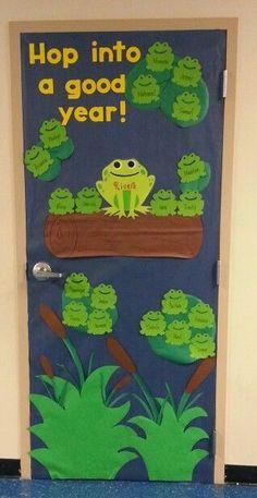 Frog classroom door