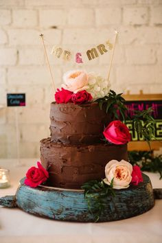 Bolos de chocolate no casamento!
