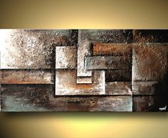 ORIGINAL Geometric  Abstract Painting On Canvas by OsnatFineArt, $460.00