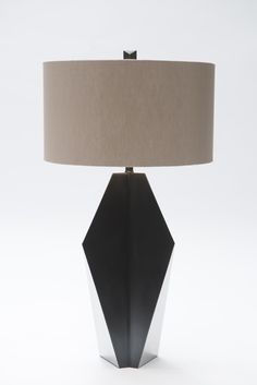 Origami Fuse Lamp shown in Stainless