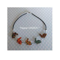 Statement Ketten - *HIPPIE HASEN *KCA 37 SCHRILLE HASEN KETTE - ein Designerstück von pomp-and-jewels bei DaWanda