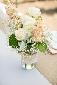 Wedding Ideas: 20 Romantic Ways to Use Lace - wedding centerpiece; Jennifer Bagwell
