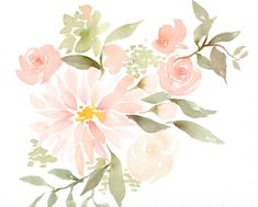 Watercolor Flowers  - www.juliesongink.com                                                                                                                                                                                 More