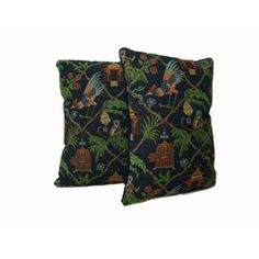 @Overstock - Dare to go where the wild things are with these jungle-themed throw pillows. This pair of adorable pillows depicts a fun monkey and palm tree pattern and feature cotton and polyester construction that will add softness to your bed or sofa.http://www.overstock.com/Home-Garden/Multicolor-Jungle-Throw-Pillows-Set-of-2/6264980/product.html?CID=214117 CAD              23.59