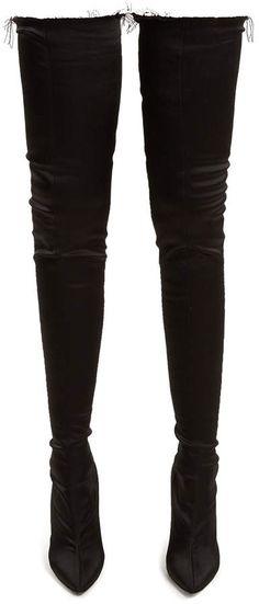 Vetements Thigh-high satin boots Vetements Vetements Thigh-high satin boots $2,150  #Women    #Shoes     #Athletic    #Boots     #Evening     #Flats     #Mules & Clogs     #Platforms     #Pumps     #Sandals     #Sneakers     #Wedges