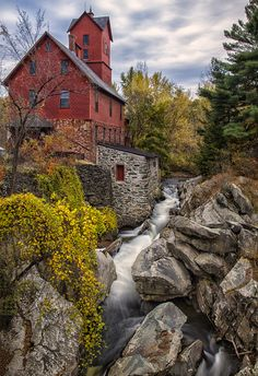 Old Grist Mill in Jerico Vermont, USA