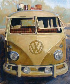 Mango Flipseat, 39x41, oil on panel, Santiago Michalek, VW painting, Volkswagen painting, bus painting, oil painting