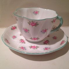 Vintage Shelley Rosebud Tea Cup and Saucer Set by TheDaintyBullet