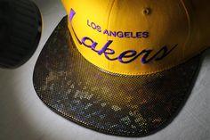 Custom LA Lakers Snapback  Showtime Lakers by KeyAcquisitions, shiney