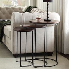 Shop for Kari Metal and Wood Brown Round Nesting Table Set. Get free shipping at Overstock.com - Your Online Furniture Outlet Store! Get 5% in rewards with Club O!