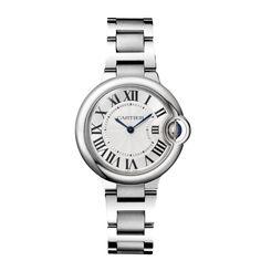 Ballon Bleu de Cartier watch, 33 mm - Quartz, steel - Fine Timepieces for women - Cartier