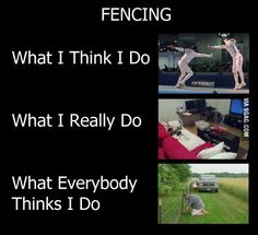 Fencing Club, Fencing Sport, Athlete Problems, Fencing Foil, The Fencer, Sword Fight, Sport Quotes, Twisted Humor, Funny Posts